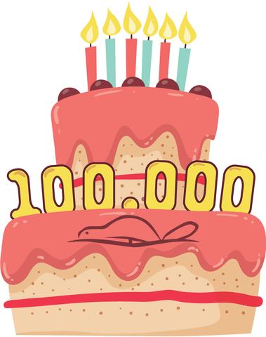 Ikona rođendanske torte