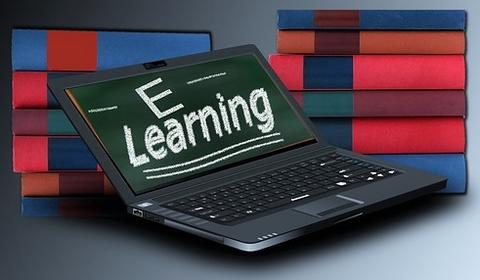 Laptop s prikazom E-learning