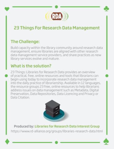 23 smjernice: podrška za upravljanje istraživačkim podacima